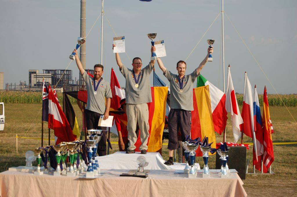 Left to right, Wolf, Guntmar and Heiko - a German clean sweep in F5B