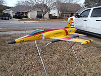 Name: Panel Lines and Graphics Applied No Clear Photo 1.jpg Views: 121 Size: 312.1 KB Description: Plane painted with PPG yellow, red and blue. Black, gray, silver and white is Testor's Model Master