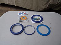 """Name: Fine Line Tapes.jpg Views: 74 Size: 134.3 KB Description: These are tapes I use when trying to get a """"fine line"""" on a color. The blue tapes are 3M fine line vinyl tapes available in 1/8"""". 1/4"""", 3/8"""" and 1/2"""". The other tape is the Tamiya masking tape. See text for info"""