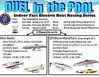 Name: Dual in the Pool 2015.jpg Views: 26 Size: 109.0 KB Description: This is how we modify the power in the boats for indoor running.  We can't go full speed...even in an Olympic sized pool.