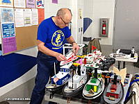 Name: IMG_0219R.jpg Views: 23 Size: 176.7 KB Description: Gene working on his boat.  He's been improving and caring for our club tugs.