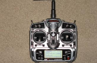 Very nice case design. The DX7 transmitter has an excellent look and feel.  The gimbals are extremely smooth and precise.