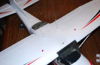 You can also see two of the NAV lights in the wing top here as well.
