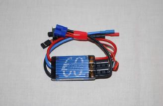 The 60 amp ESC supports input voltage from 3s-6s packs.