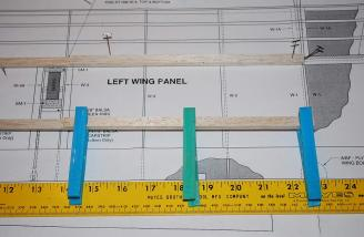 The spars were cut to length and spar doubler glued per the instructions and full-sized plans.