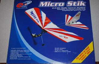 The colorful box contains a stunning, tiny, ready to fly 28g model.
