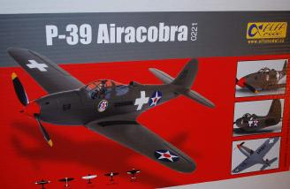 The colorful Alfa box contains a stunning, scale P-39 Airacobra.