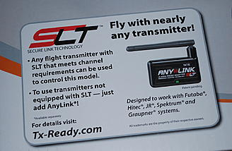 Tactic receiver is included.  Anylink module can make the Tactic SLT technology work with your transmitter!