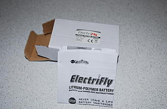 The ElectriFly 2s pack was well protected in the box.