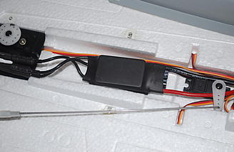 Here you see the 40 amp ESC.