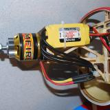 The 45 amp ESC supports input voltage from 2s-4s packs. Secure the wires so they do not rub or chafe.