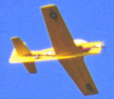 T-28 in flight
