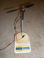 Name: Mr. Twister 002.jpg Views: 175 Size: 87.0 KB Description: The prop thrust pushes down on the scale. I put a non-skid layer on the base to prevent the base from sliding on the scale...seemed to work good.