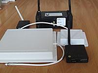 Name: IMG_2903.jpg Views: 60 Size: 121.4 KB Description: Diversity RX, 8ch RX, TX, 8 dbi and 14 dbi patch antennas.