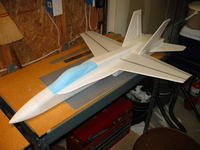 Name: Completed on the bench.jpg Views: 4829 Size: 76.3 KB Description: Finished model before painting.  All the initial flights were made like this with no paint.