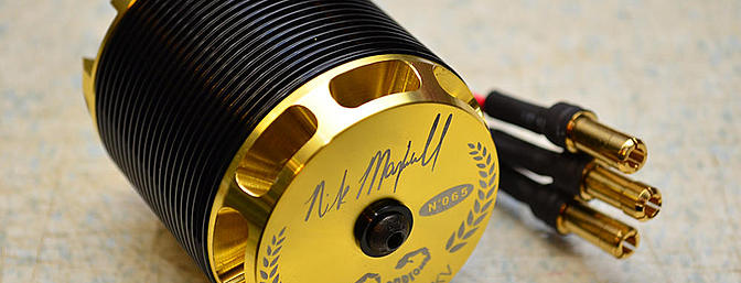 The Scorpion HKII-4235-520kv  Nick Maxwell edition motor, specifically designed for the E700.