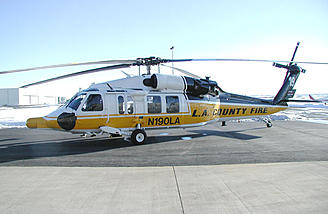The civilian S-70A, in service with the LA County Fire department.
