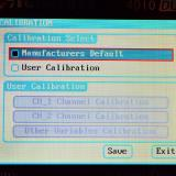 Calibration settings.