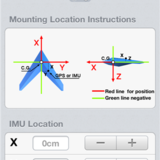 IMU mounting location.