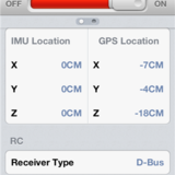 IMU and GPS location.