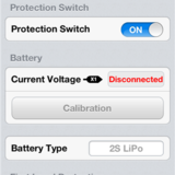 Voltage protection and calibration settings.