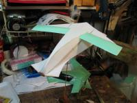 Name: DRGNS1.jpg Views: 273 Size: 55.1 KB Description: A canard forward sweep lifting body.  The glide was rock steady. This prototype is being prept for AirHog gear