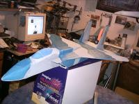 Name: F15pj 002.jpg Views: 202 Size: 112.7 KB Description: My f 15. Rip. nosed in at ~60mph