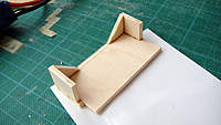 Name: DSC01979.jpg Views: 278 Size: 74.4 KB Description: This wooden mount is where the camera will sit. It was epoxied onto the foam support