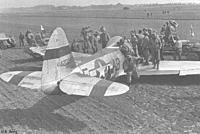 Name: P-47wreck.jpg Views: 102 Size: 44.8 KB Description: This photo of a 354th '47 shows wide stripes on the horizontal stabiliser. I matched mine to the vertical stabiliser stripe width in the end