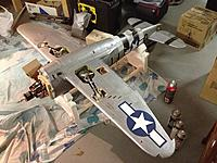 Name: 07.jpg Views: 265 Size: 272.9 KB Description: And here is the wing on the fuse for the first time in a long time, ready to help me align the flaps when I install them...