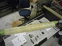Name: masking tape wrap 2nd aft tube (Large).jpg Views: 268 Size: 98.6 KB Description: Tape wrap on Kevlar sock on the second tube.