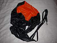 Name: 3.jpg Views: 172 Size: 89.7 KB Description: Pilot chute.  This parachute will be used to pull the main parachute (which I do not have quite yet) out of it's deployment bag.  This process allows a slower, smoother deployment and causes less stress on the recovery system and rocket.
