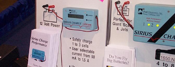Sirius' new SAFE FAST Lithium Charger with new RPC circuit.