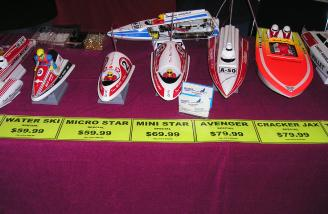 and had an interesting variety of small electric boats.