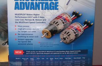 Multiplex brushless motor display.