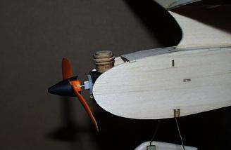 The dummy motor on the Diddle Bug show model!