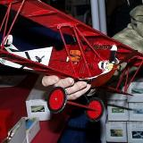 The Fokker D-VII, complete with profile engine and radiator cap! I LOVE the detail on these neat laser cut kits!