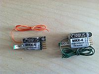 Name: CirrusMRX.jpg Views: 58 Size: 102.1 KB Description: 2- Old Cirrus MRX-4 4 channel Receiver both on channel 56. One has plastic removed and shrink only to save weight. Both have the Antennas cut in half.