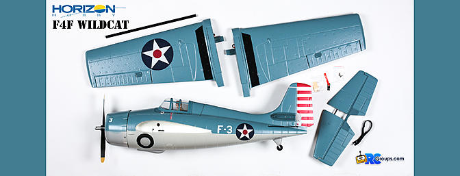 ParkZone F4F Wildcat Box Contents
