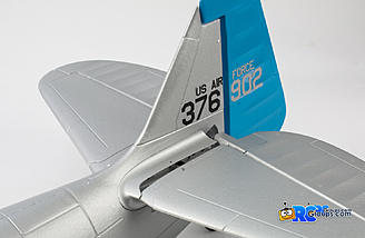 The horizontal stabilizers slide onto the carbon tube spar