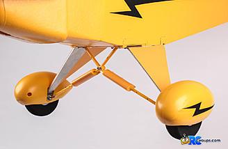 Scale landing gear and wheel pants look sharp.