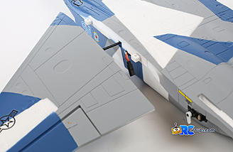 Carbon tube passes through the fuselage and into each wing panel