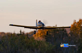 Just after sunset landing approach