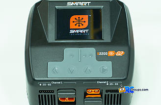 The start up screen on the new S2200 G2 Smart Charger