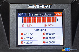 Sub menu showing individual cell voltage