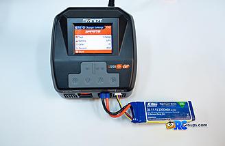 Navigating to start button to begin charging