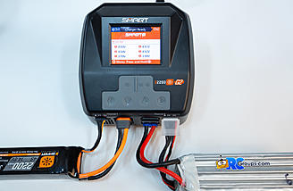 Charging conventional 6S pack on channel 2, individual cell voltage screen shown