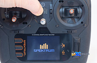 The Spektrum logo is the on/off switch