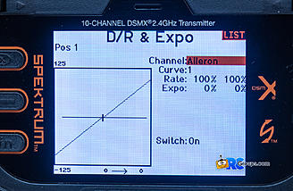 Dual Rate and Expo screen