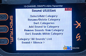 There is an extensive library of sound files to use for a large variety of situations.